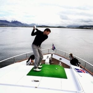 The nineteenth hole from Harpa Yacht